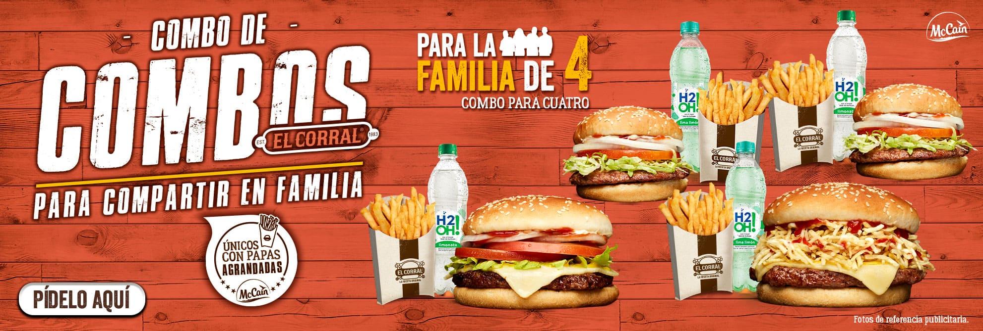 Combos de hamburguesas para compartir